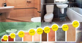 Как выбрать в ванную плитку нужного размера