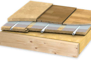деревянная система монтажа водяного теплого пола без стяжки