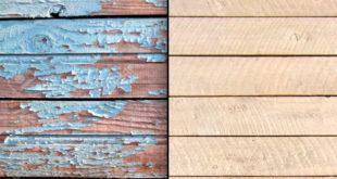 Очистка деревянного пола от краски