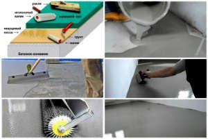 изготовление наливного пола: порядок работ